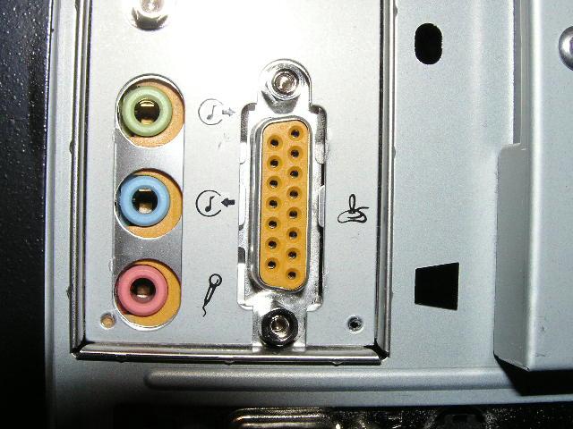 Фото: Аудио входы и выходы на звкуовой плате