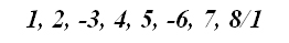 Фото: схема Эолийского лада цифрами